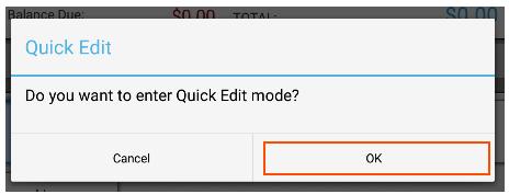 Quick Edit Mode