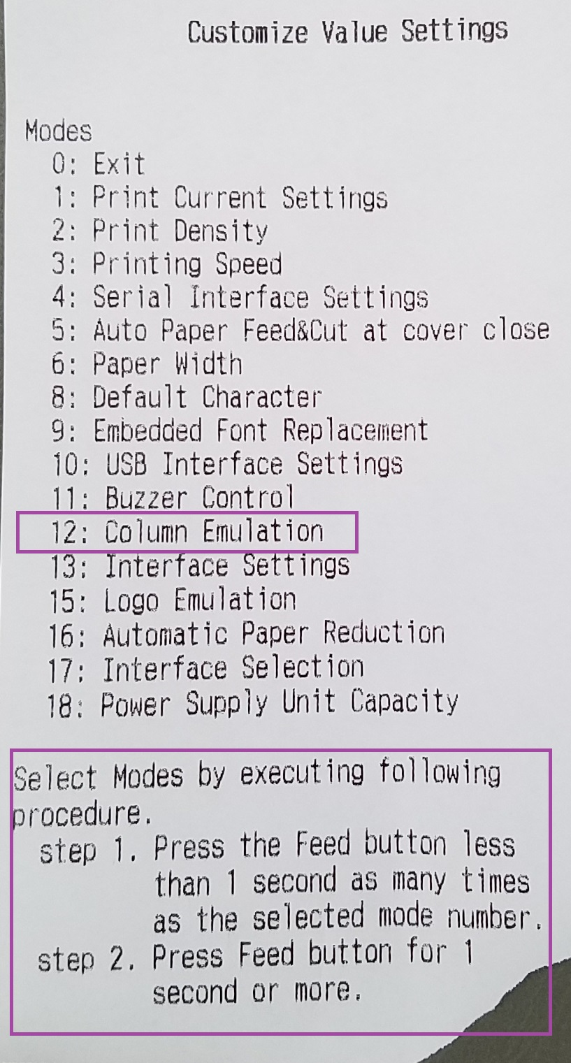 Column Settings Adjustments on Epson T20 - Printing is Off Center